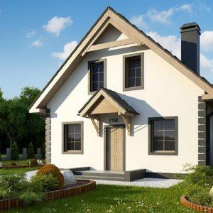 Фото 13 - Z1 bl - Версия проекта дома Z1 без люкарен.