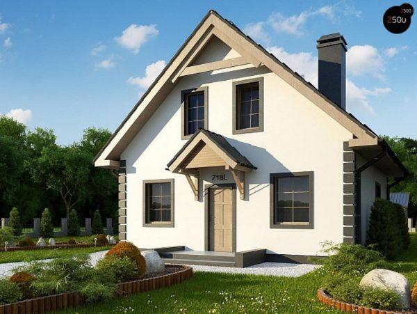 Фото 1 - Z1 bl - Версия проекта дома Z1 без люкарен.