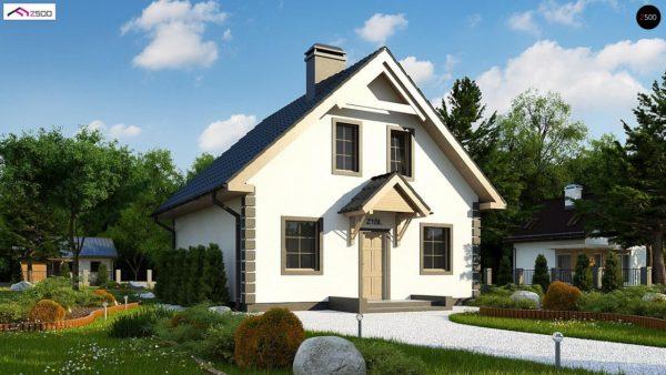 Фото 2 - Z1 bl - Версия проекта дома Z1 без люкарен.