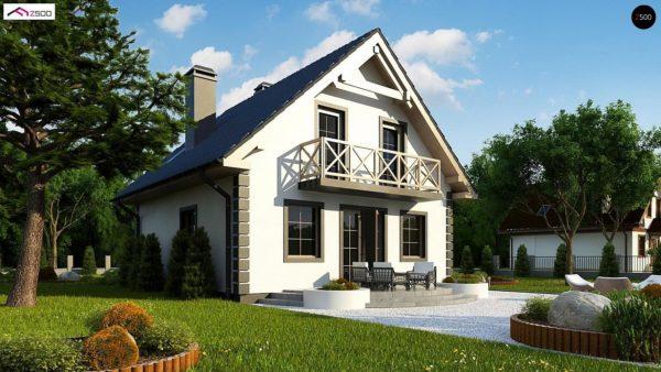 Фото 3 - Z1 bl - Версия проекта дома Z1 без люкарен.