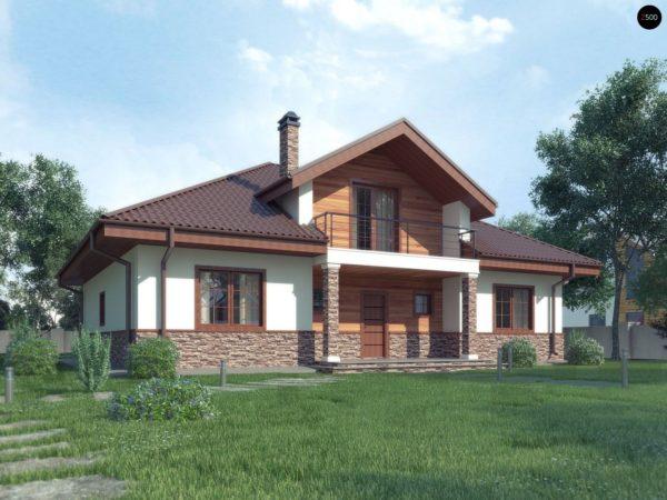Фото 1 - Z10 stu bk - Комфортный дом с открытой мансардой в традиционном стиле (версия проекта Z10).