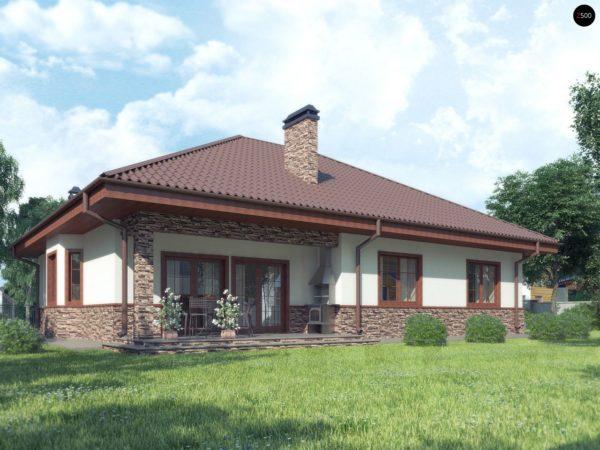Фото 2 - Z10 stu bk - Комфортный дом с открытой мансардой в традиционном стиле (версия проекта Z10).