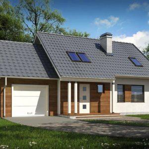 Фото 16 - Z101 D GL - Мансардный домик с гаражом и тремя спальнями.