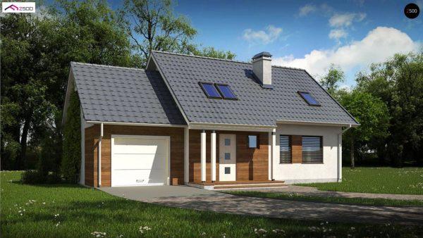 Фото 1 - Z101 D GL - Мансардный домик с гаражом и тремя спальнями.