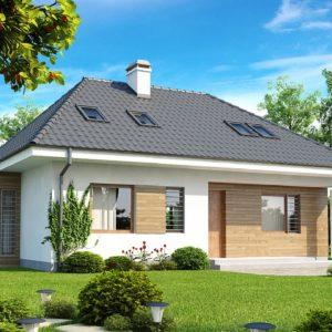 Фото 21 - Z104 - Проект функционального дома с дополнительной небольшой ночной зоной на первом этаже.