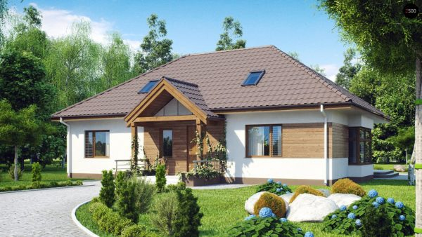 Фото 1 - Z106 - Проект традиционного дома с возможностью адаптации чердачного помещения.