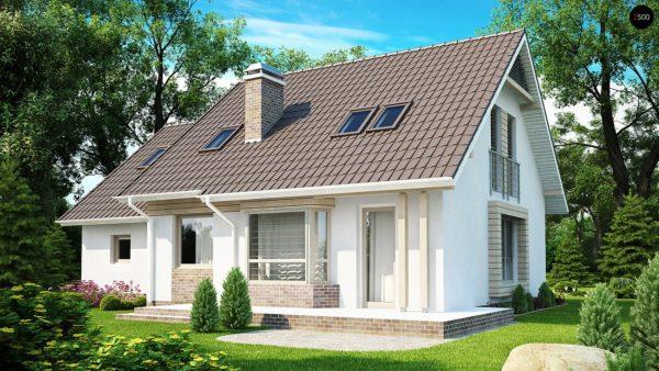 Фото 1 - Z107 - Проект стильного выгодного и функционального дома.