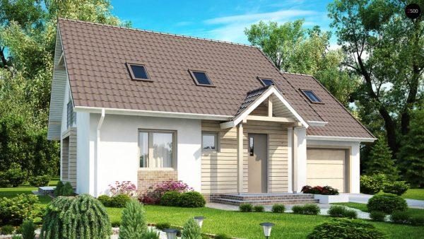 Фото 2 - Z107 - Проект стильного выгодного и функционального дома.