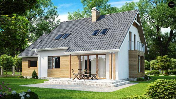 Фото 2 - Z108 - Проект функционального и удобного дома с комнатой над гаражом.