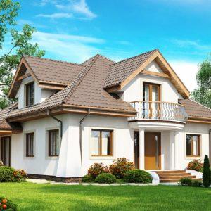 Фото 26 - Z109 - Удобный дом в классическом стиле с красивыми мансардными окнами и балконом.