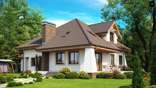 Фото 2 - Z109 - Удобный дом в классическом стиле с красивыми мансардными окнами и балконом.