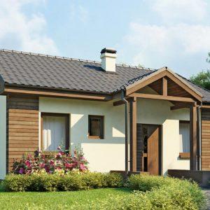 Фото 27 - Z11 - Маленький одноэтажный дом с двускатной кровлей, недорогой в строительстве и эксплуатации.
