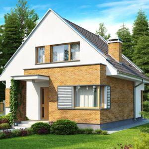 Фото 29 - Z112 - Компактный традиционный дом с современными элементами дизайна фасадов.