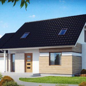 Фото 29 - Z114 - Проект практичного дома с эркером и гаражом на одну машину.