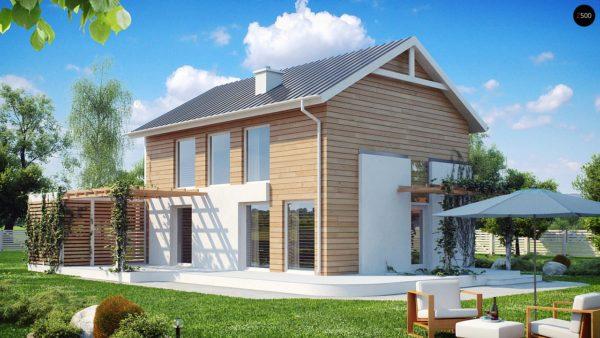 Фото 1 - Z115 - Выгодный в строительстве и эксплуатации двухэтажный дом простой формы.