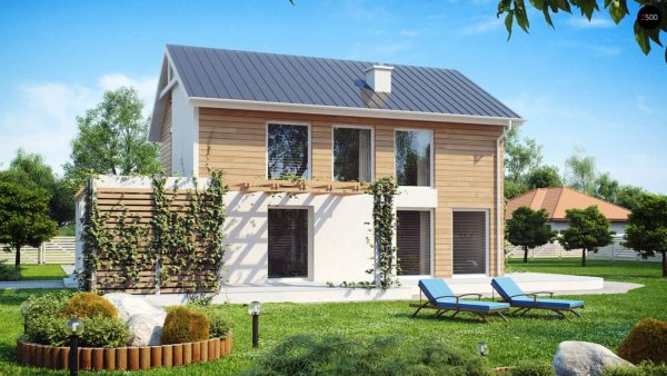Фото 2 - Z115 - Выгодный в строительстве и эксплуатации двухэтажный дом простой формы.