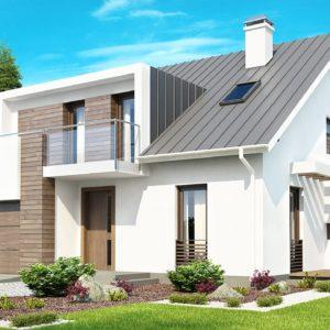Фото 4 - Z116 - Стильный комфортный дом современного дизайна со встроенным гаражом.