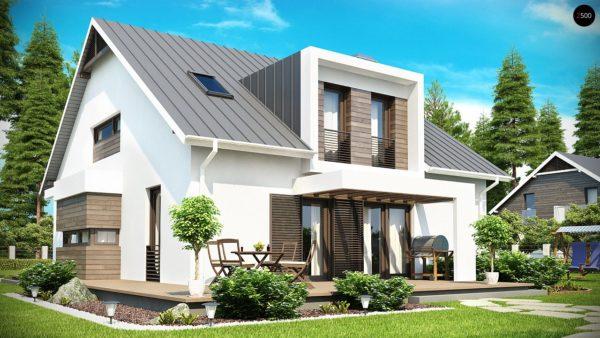 Фото 2 - Z116 - Стильный комфортный дом современного дизайна со встроенным гаражом.