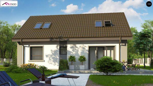 Фото 4 - Z12 P - Компактный дом с мансардой и большой террасой на первом этаже.