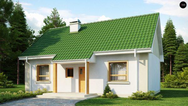 Фото 1 - Z12 - Простой в реализации дом с двускатной крышей, с возможностью обустройства мансарды.