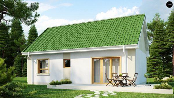 Фото 2 - Z12 - Простой в реализации дом с двускатной крышей, с возможностью обустройства мансарды.