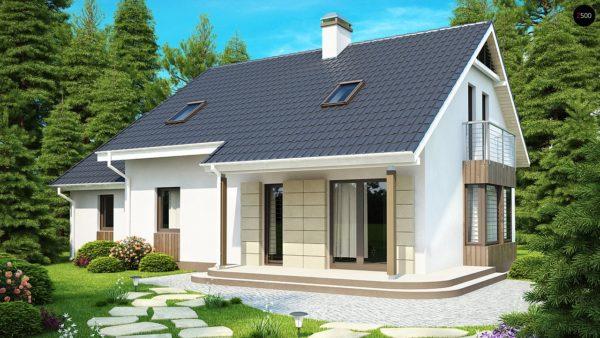 Фото 1 - Z120 - Выгодный в строительстве и эксплуатации дом с дополнительной спальней на первом этаже.