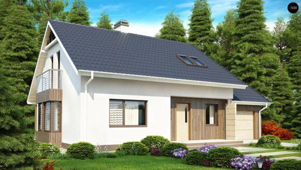 Фото 2 - Z120 - Выгодный в строительстве и эксплуатации дом с дополнительной спальней на первом этаже.