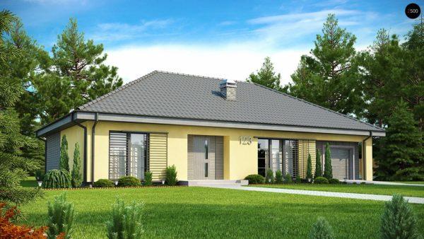 Фото 1 - Z123 - Одноэтажный дом традиционного характера с тремя удобными спальнями и встроенным гаражом.