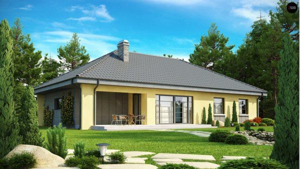 Фото 2 - Z123 - Одноэтажный дом традиционного характера с тремя удобными спальнями и встроенным гаражом.