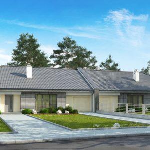 Фото 6 - Z123 ZBL - Проект дома для симметричной застройки на основе проекта Z123.