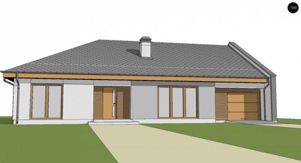 Фото 3 - Z123 ZBL - Проект дома для симметричной застройки на основе проекта Z123.