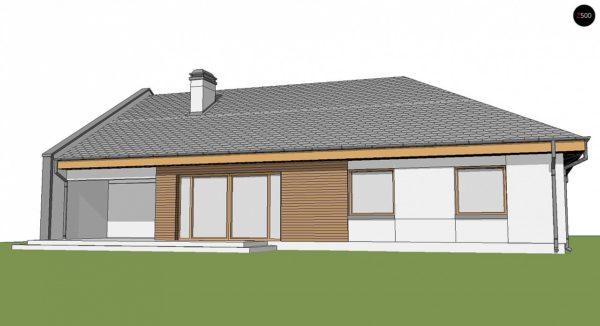 Фото 4 - Z123 ZBL - Проект дома для симметричной застройки на основе проекта Z123.