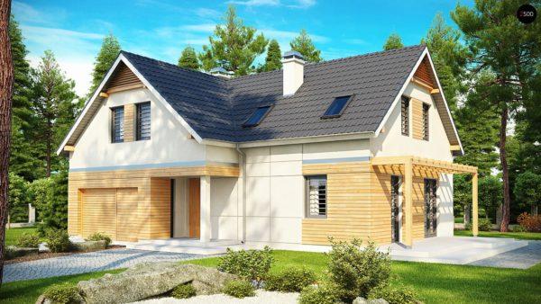 """Фото 1 - Z125 - Практичный дом """"L""""-образной формы с гаражом на одну машину и дополнительной спальней на первом этаже."""