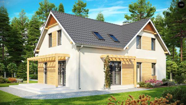 """Фото 2 - Z125 - Практичный дом """"L""""-образной формы с гаражом на одну машину и дополнительной спальней на первом этаже."""