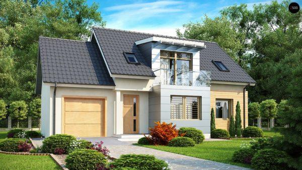Фото 1 - Z126 - Традиционный практичный  дом с современными элементами архитектуры.