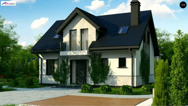 Фото 4 - Z13 - Простой в строительстве дом с балконом над входом.