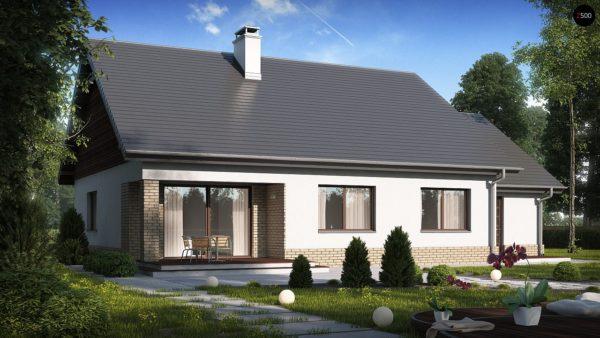Фото 3 - Z131 - Проект традиционного одноэтажного дома с возможностью обустройства мансарды.