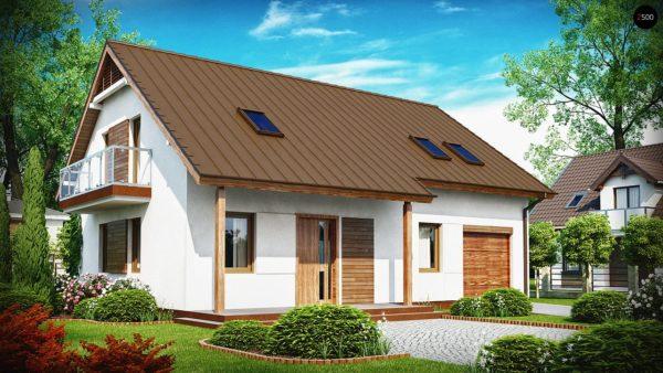 Фото 1 - Z133 - Практичный дом с мансардой, встроенным гаражом и дополнительной спальней на первом этаже.