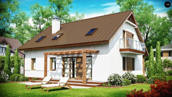 Фото 2 - Z133 - Практичный дом с мансардой, встроенным гаражом и дополнительной спальней на первом этаже.