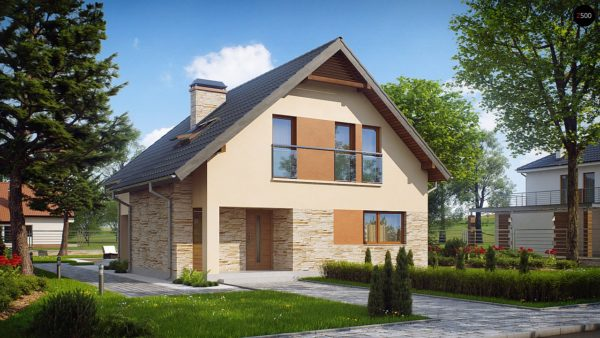 Фото 1 - Z134 - Проект аккуратного и удобного дома с мансардой.