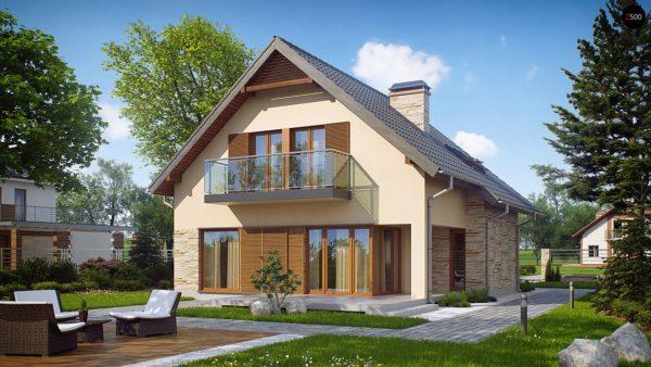 Фото 2 - Z134 - Проект аккуратного и удобного дома с мансардой.