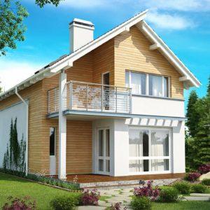 Фото 9 - Z137 - Энергоэффективный и удобный дом с современными элементами отделки фасадов Подходит для узкого участка.