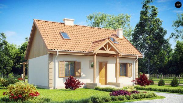 Фото 1 - Z14 - Функциональный и уютный дом с дополнительной спальней на первом этаже Простой и экономичный в строительстве.