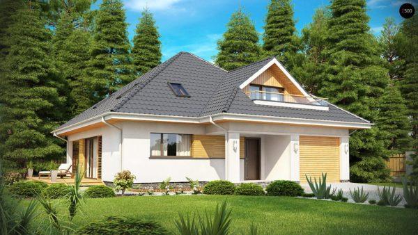 Фото 1 - Z143 - Красивый и функциональный дом с боковой террасой и необычным мансардным окном.