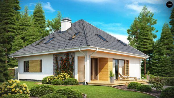Фото 2 - Z143 - Красивый и функциональный дом с боковой террасой и необычным мансардным окном.