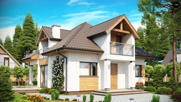 Фото 1 - Z145 - Проект практичного и уютного традиционного дома.