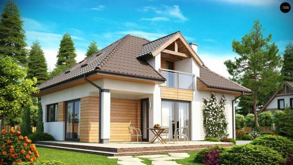 Фото 2 - Z145 - Проект практичного и уютного традиционного дома.