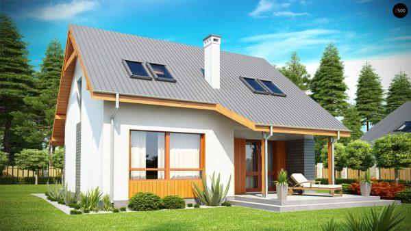 Фото 1 - Z146 - Проект небольшого практичного дома, выгодного в строительстве и эксплуатации.
