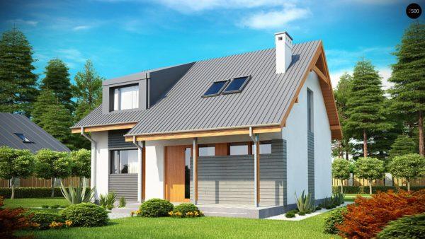 Фото 2 - Z146 - Проект небольшого практичного дома, выгодного в строительстве и эксплуатации.