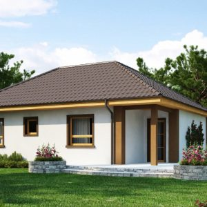 Фото 3 - Z15 - Небольшой комфортный одноэтажный дом в форме буквы «L» с тремя спальнями.